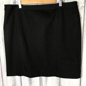 Talbots Skirt Black Pencil Straight with Stretch
